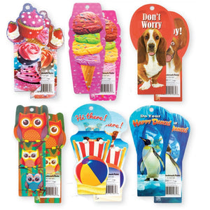 Pack of 6 Ruler Bookmarks with 3D Designs