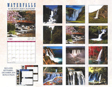 Load image into Gallery viewer, 2020 Waterfalls Full-Size Wall Calendar, 16-Month