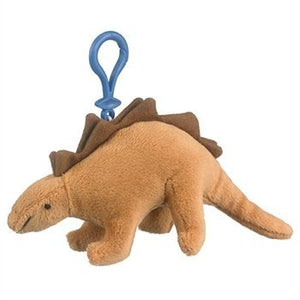 Small of the Wild Clip On Stuffed Stegosaurus by Wildlife Artists