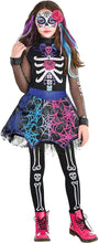 Load image into Gallery viewer, Girls Day of The Dead Costume, Small (4-6)- 3 pcs.