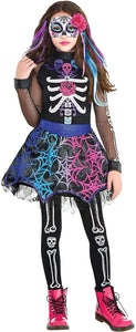 Girls Day of The Dead Costume, Small (4-6)- 3 pcs.