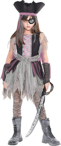 amscan Haunted Pirate Halloween Costume - Large (12-14)