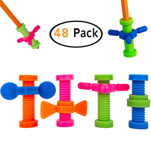 B-KIDS Pencil Fidget Toy Spinner Bulk (48 Pack)