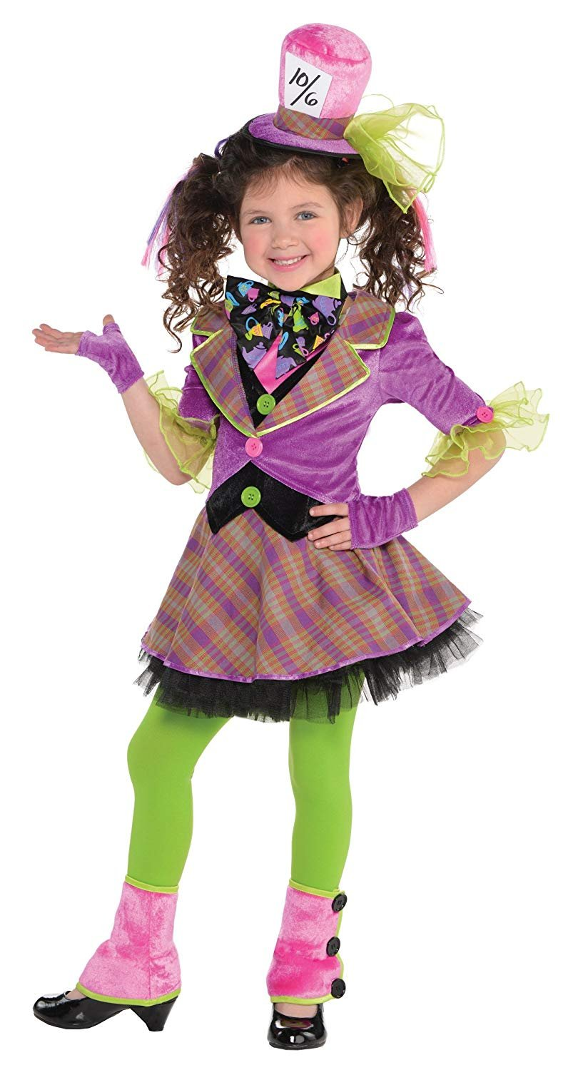 Amscan Girls Mad Hatter Costume - Small (4-6)