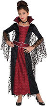 Load image into Gallery viewer, amscan 847250 Girls Coffin Queen Vampire Costume, Medium Size (8-10 Years Old)