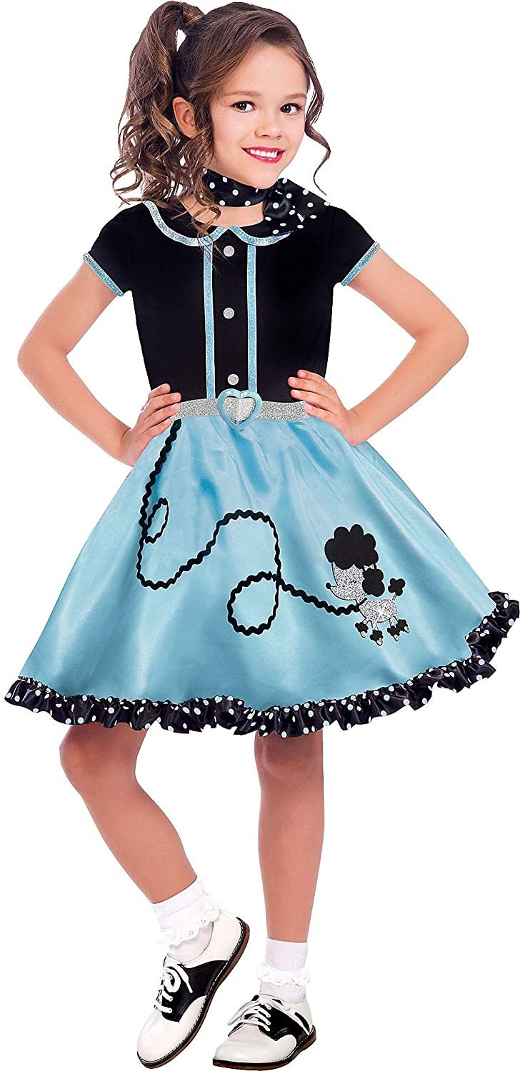 amscan Girls at The Hop Costume- Small (4‑6)