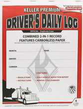 Load image into Gallery viewer, J.J. Keller 8530 2-in-1 Driver's Daily Log Book with Detailed DVIR