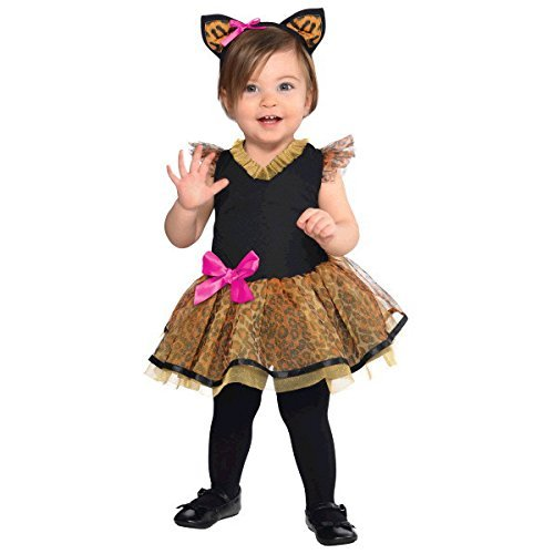 AmScan Costumes USA Cutie Cat Infant Costume (6-12)-