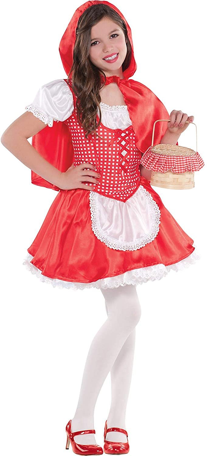 Suit Yourself Classic Red Riding Hood Halloween Costume for Girl, with Accessories