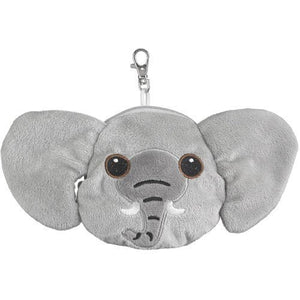 Elephant Stuffed Animal Plush Pouch Purse Animal Case Clip on Bag Animal Zipper Pouch Wallet Bag
