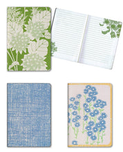 "Load image into Gallery viewer, Set of 3 Florence Broadhurst Pocket Journals (Spot Floral) - 96 Lined Pages in each Notebook - 4.25"" x 6.125"" Notepad Size"