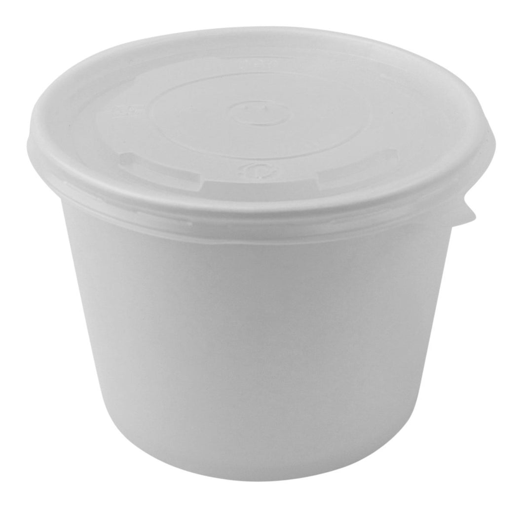 100 Count Deli Containers Durable Food Storage Containers with Lids, Hot and Cold Disposable Containers Use for Frozen Desserts, Soups, or Any Food of Your Choice (32oz)