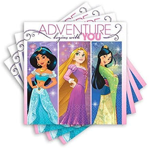 Beverage Napkins | Disney Princess Dream Big Collection | Party Accessory