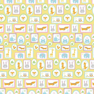 B-THERE Baby Shower Gift Wrap Wrapping Paper for Boys, Girls, Adults. 4 Cute Different Designs of 6 ft X 30 Roll! Includes Baby Feet, Giraffe, Animals, Elephant, Twinkle Little Star