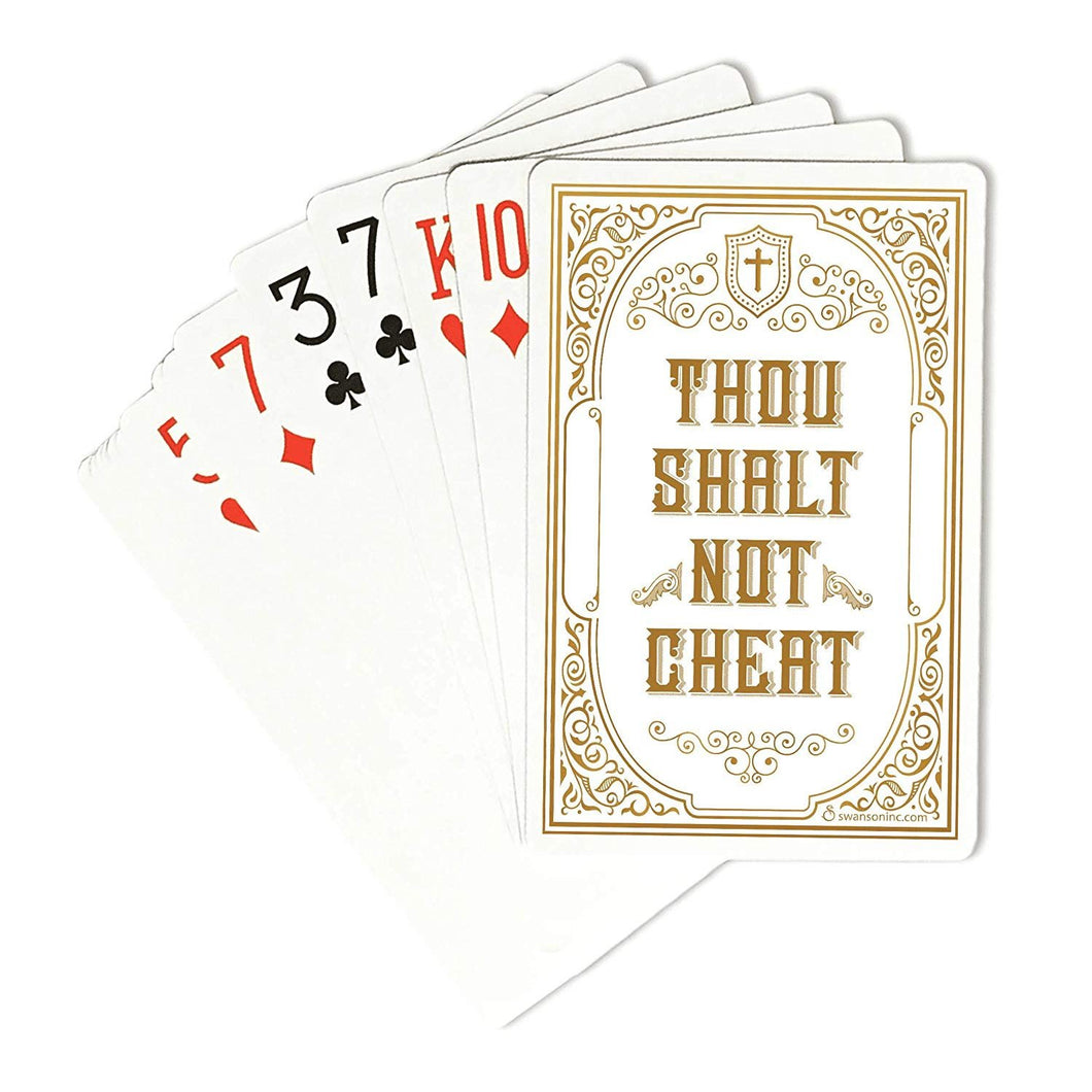 Swanson 60348 Thou Shalt Not Cheat Playing Card Deck