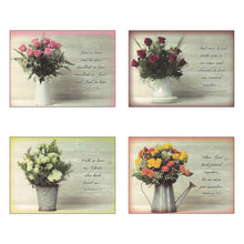 Load image into Gallery viewer, Pack of 12 Religious Boxed Enclosure Cards - Rose Bouqet - Wedding Card Pack, Envelopes Included