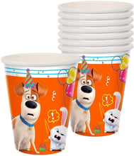 "Load image into Gallery viewer, ""The Secret Life Of Pets 2"" Orange and White Party Paper Cups 9 Oz, 8 Ct."