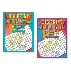 2 Pack Big Print Find A Word Puzzle Books
