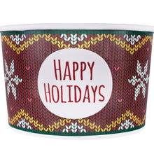 Load image into Gallery viewer, B-KIND Bundle of 100 Holiday Deli Containers Durable Food Storage Containers with Lids, Hot and Cold Disposable Containers Use for Frozen Desserts, Soups, or Any Food of Your Choice (20oz)