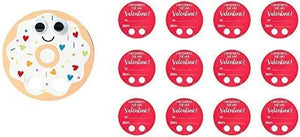 "Amscan Valentine Donut Walker Cards, Party Decors, Multicolor, 4 3/4"" X 4 3/4"", 12Ct"