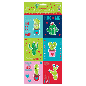 Cactus Valentine Cards w/Puffy Sticker