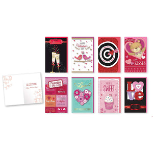 Pack of 8 Different Handmade Valentine's Day Cards - Large