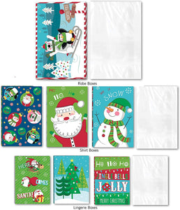 Bundle of 20 Christmas or Holiday Assorted Printed Gift Clothes Boxes