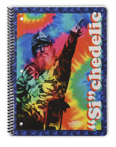"4 Duck Dynasty Spiral Bound Notebooks - 90 Wide Ruled Sheets 10.5"" x 8"" - Duck Dynasty Merchandise, Si Notepads, Faith Family Ducks Journals"