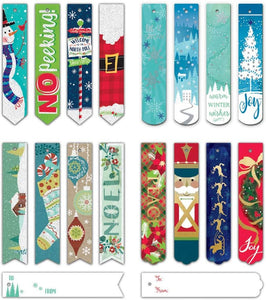 Bundle of 96 Assorted Christmas Bookmark Tags, Holiday Gift Tags 96ct