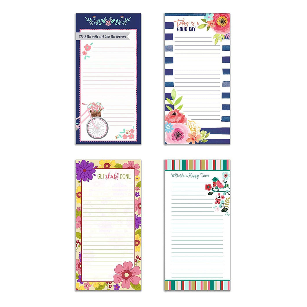 to Do List Notepad Inspirational Set of 4 to-Do List Magnet Notepad 4in x 9.75in