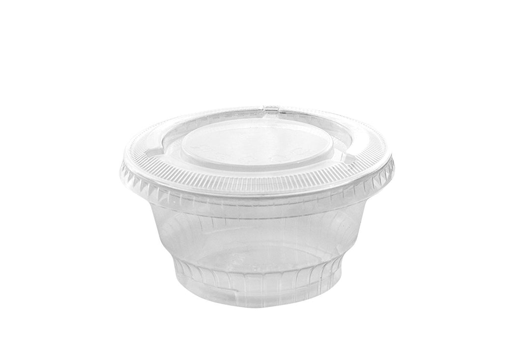 Reusable & Disposable Parfait Snack Container Plastic Parfait Cups with Lids (8oz)