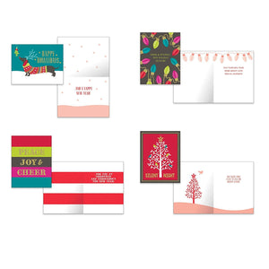 Pack of 32 Christmas Cards, Assorted Cards 8 Designs. 4.25in x 5.5in Cards with Envelopes