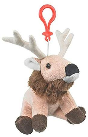 Wildlife Artists Stuffed Animal Clip Keychain (Elk)