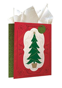 6 Pack of Assortment Christmas Gift Bags Xmas Giftbags - Traditional And Juvenile Designs w/ Foil & Glitter Finishes on Each Bag!