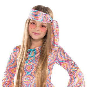 Amscan 842845 Girls Disco Diva Costume - Large (12-14), Multicolor
