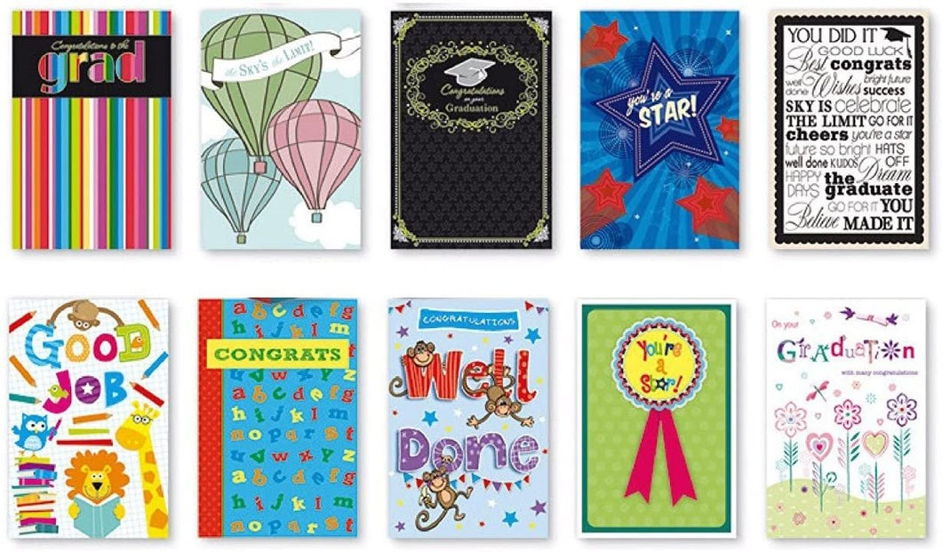 20PK BOXED GRADUATION CARDS Bulk WITH SENTIMENT - COLLEGE ELEMENTARY GRAD by B-THERE