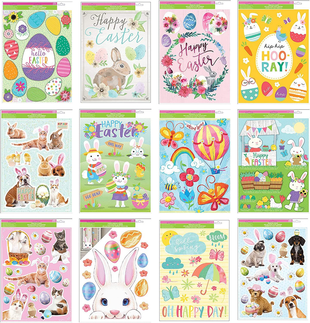 B-THERE Bundle of Spring Easter Window Cling Decorations 12