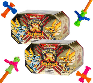 B-THERE Treasure X Dragons Gold (2 Pack) with 4 Pencil Fidgets