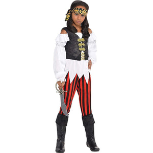 Amscan Girls Pretty Scoundrel Pirate Costume - X-Large (14-16), Multicolor