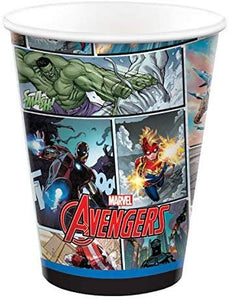 Marvel Avengers Party Pack Seats 8 - Napkins, Plates, Cups & Stickers- The Avengers Powers Unite Party Supplies, Deluxe Party Pack