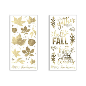 "B-THERE Bundle of Harvest Fall Decorations 8"" x 18"" Window Clings, Thanksgiving Decorations"