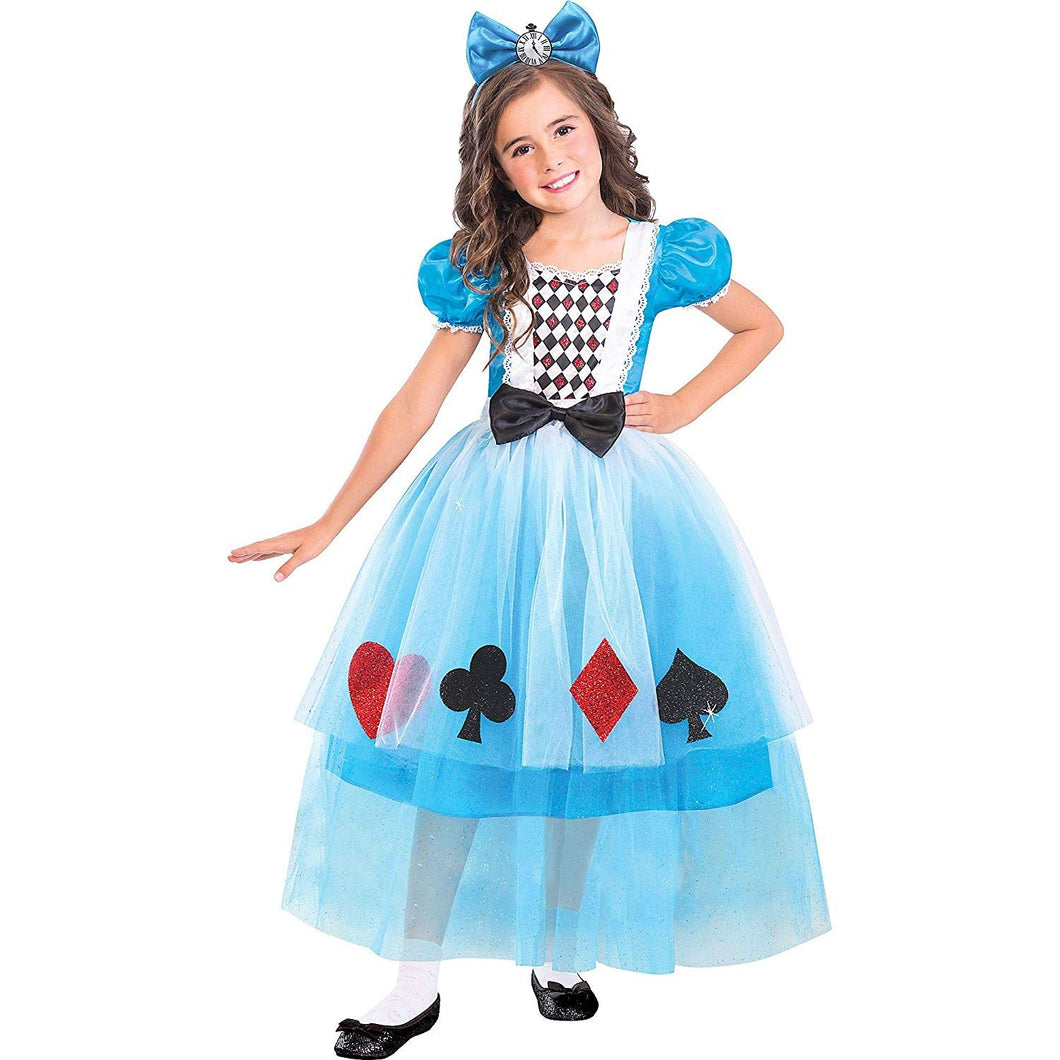 Suit Yourself Miss Wonderland Halloween Costume for Girls, Medium, with Headband
