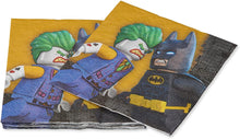 Load image into Gallery viewer, American Greetings Boy's Lego Batman Party Supplies, Paper Lunch Napkins, 16-Count