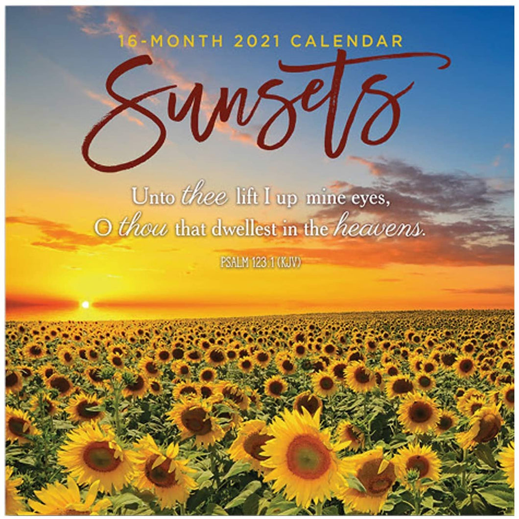 B-THERE 16 Month Premium Christian Wall Calendar 2021 Each Month Displays Full-Color Photograph. Printed on Linen Embossed Heavyweight Paper Stock (Sunsets)