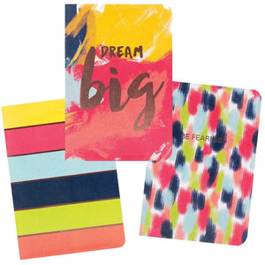 The Gift Wrap Company Dab Deluxe Soft Bound Mini Pocket Journals, Set of 3