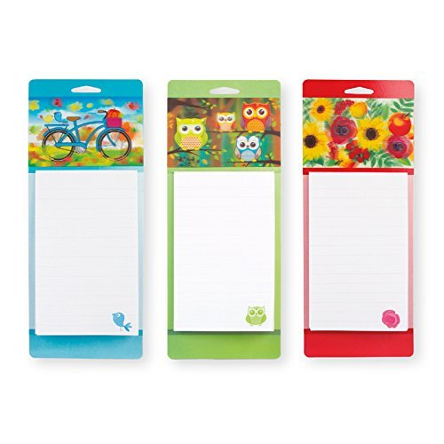 Set of 3 Magnetic 3D List Pads, Grocery Shopping List Magnetic 3D To Do Lists