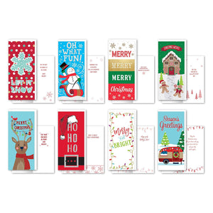 B-THERE Bundle of 24 Value Pack Tall Christmas Greeting Cards - Whimsical, Foil and Glitter Finishes with Envelopes