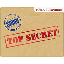"Load image into Gallery viewer, Amscan 490141 Party Supplies Top Secret Large Novelty Invitations (8 Ct), 4 3/4"" x 6"", Multi"