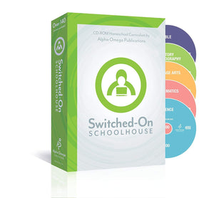 Switched on Schoolhouse, Grade 8, AOP 5-Subject Set - Math, Language,...