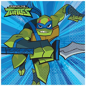 B-THERE Rise of The Teenage Mutant Ninja Turtles Party Pack - Seats 8: Napkins, Plates, Cups and...